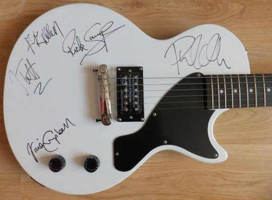 Def Leppard Epiphone guitar for auction