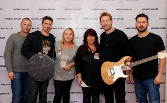 Nickelback drum guitar Suzanne and Julia