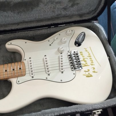 Nile Rodgers signed Strat auction